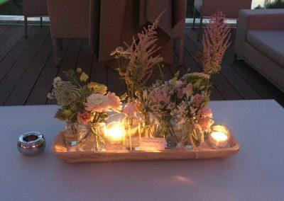 Bloemstukken bruiloft Maaspoort Venlo