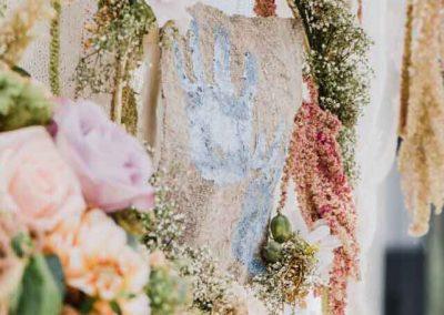 Bruiloft pasteltinten met een vleugje goud