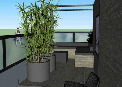 Lounge balkon, sfeervol en comfortabel